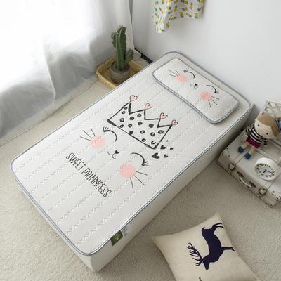 2020新款儿童冰感丝乳胶凉席-床款 120cmX60cm 皇冠喵喵