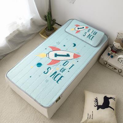 2020新款儿童冰感丝乳胶凉席-床款 120cmX60cm 小火箭