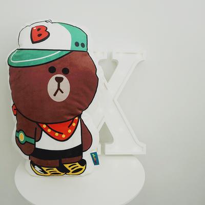 2020新款卡通抱枕 平均尺寸35×50cm 帽子熊