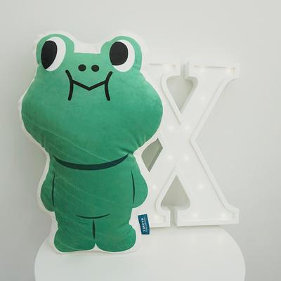 2020新款卡通抱枕 平均尺寸35×50cm 青蛙