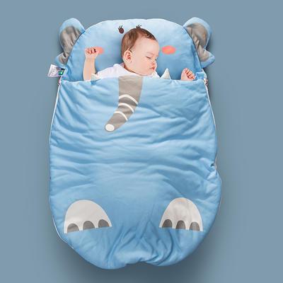 2020新款新款亲肤针织棉宝宝睡袋-70*100cm 蓝大象