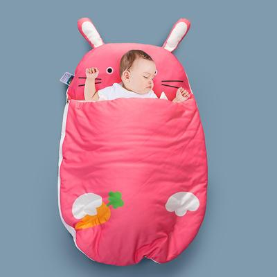 2020新款新款亲肤针织棉宝宝睡袋-70*100cm 萝卜兔