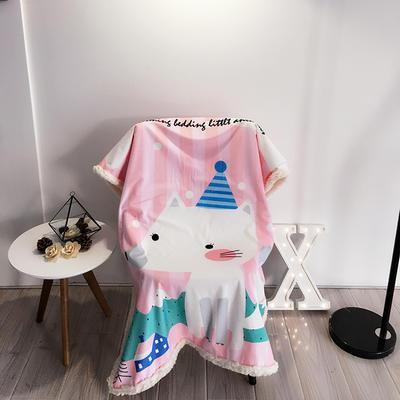2020新款卡通羊羔毛毯 150*200cm 狐狸