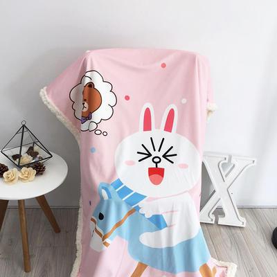 2020新款卡通羊羔毛毯 150*200cm 可妮兔