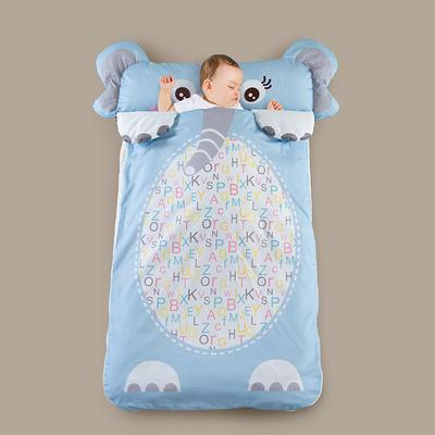 2020新款全棉宝宝加大睡袋 蓝大象