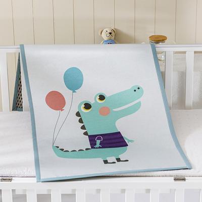 2021新款儿童冰丝凉席 60*120cm 开心鳄鱼