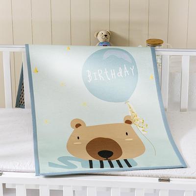 2021新款儿童冰丝凉席 60*120cm 快乐小熊