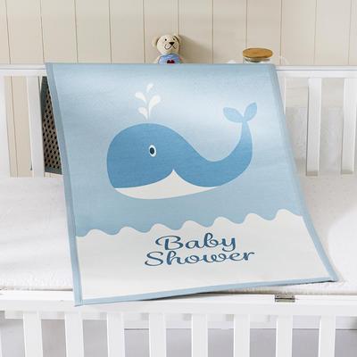 2021新款儿童冰丝凉席 60*120cm 小鲸鱼