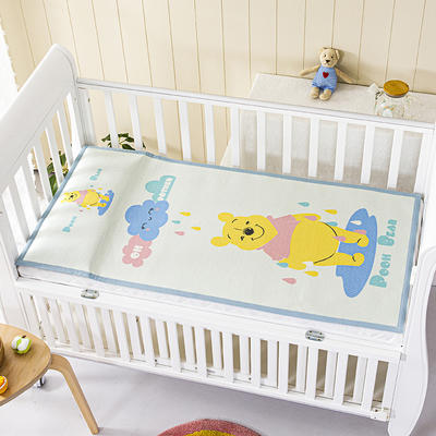 2021新款迪士尼儿童冰丝席 60*120cm 雨天维尼