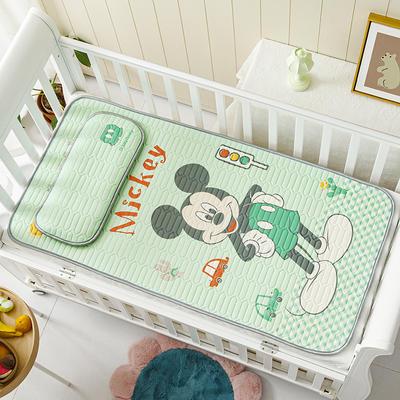 迪士尼系列 儿童乳胶凉席 60*120cm三件套 汽车米奇