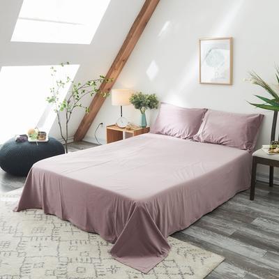 2019新款-北欧无印良品天鹅绒单品床单 160cmx230cm 藕咖色(8号)