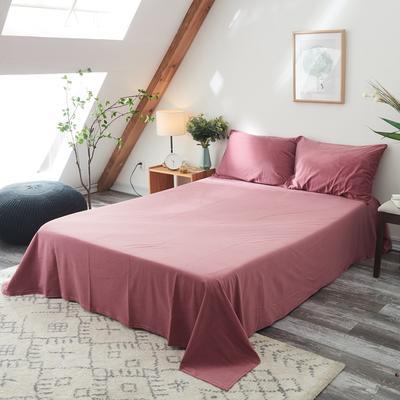 2019新款-北欧无印良品天鹅绒单品床单 160cmx230cm 豆沙色(10号)