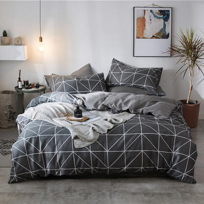 2019新款-全棉印花三件套四件套 1.5m(5英尺)床 墨尔