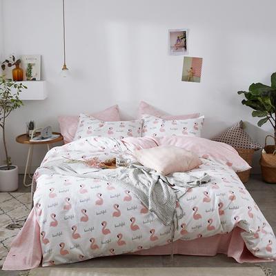 2019新款-全棉印花三件套四件套 1.5m(5英尺)床 纸短情长