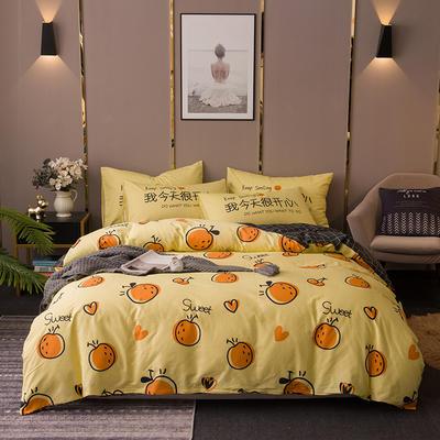 2020新款-全棉13372印花四件套 床单款四件套1.5m(5英尺)床 甜蜜暴击