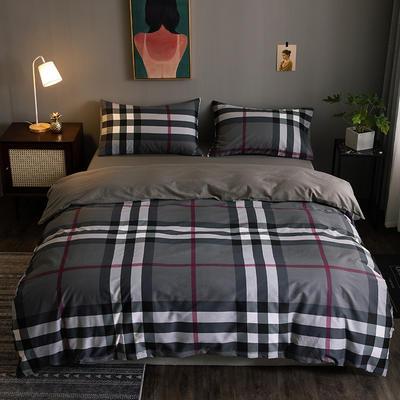 2020新款-全棉13372印花四件套 床单款四件套1.5m(5英尺)床 温伯-灰
