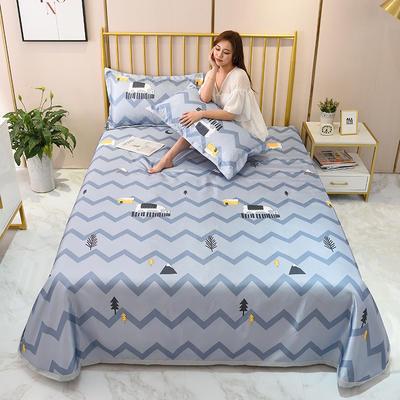 2020新款-冰丝凉席可水洗机洗床单式三件套 235*250 北极熊-灰