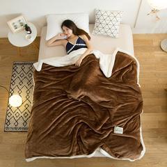 毛毯冬季加厚珊瑚绒毯保暖法兰绒羊羔绒盖毯空调毯 100*120cm 浓情咖