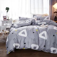 加厚保暖植物羊绒磨毛四件套床上用品被套三件套 1.2m(4英尺)床 极简生活