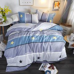 加厚保暖植物羊绒磨毛四件套床上用品被套三件套 1.2m(4英尺)床 普乐迪