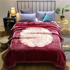 2018新款-新西兰拉舍尔毛毯 200cmx230cm 豆沙红