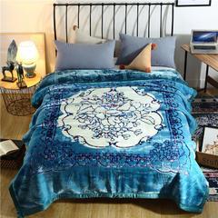 2018新款-新西兰拉舍尔毛毯 200cmx230cm 湖蓝