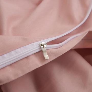 简约时尚全棉加厚刺绣宽边拼角四件套