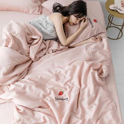 2019新款60S兰精天丝夏被三件套系列 48*78cm枕套/对 草莓