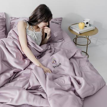 艾莱新款60S兰精天丝夏被刺绣工艺三件套系列