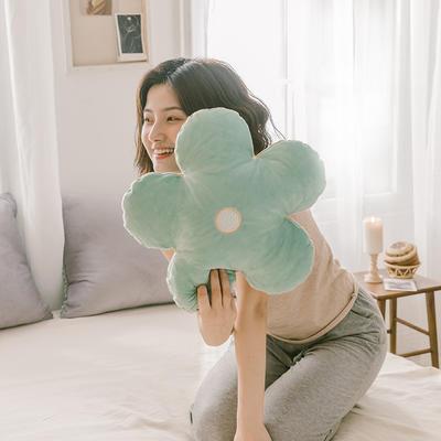 2019新款梦想的小花-抱枕 50X50cm含芯/个 水绿