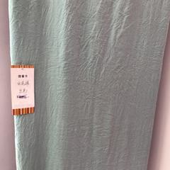 2018新款-水洗棉色布 宽幅250cm 兰色