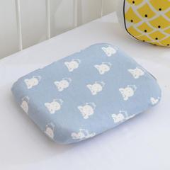 2018新款-Cadem A类无荧光儿童乳胶枕定型枕30*25cm 兔宝宝蓝