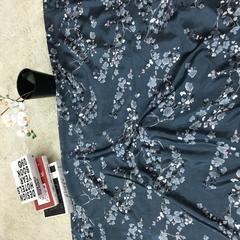 2018新款--色丁分散印花水洗真丝套件被芯面料 幅宽 150cm 1