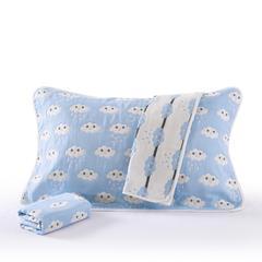 2018新款枕巾 50*80(一对) 雨蓝