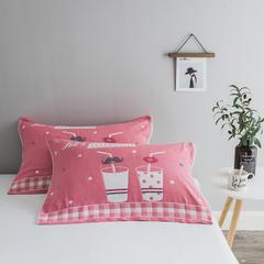 2018新款-四层枕巾 52*78cm/一对 时尚简约-粉
