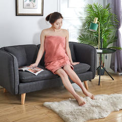 2018新款全棉纱布浴巾 70*140cm 橙色