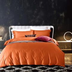 60支全棉贡缎面料200*98 宽幅250cm 橙色