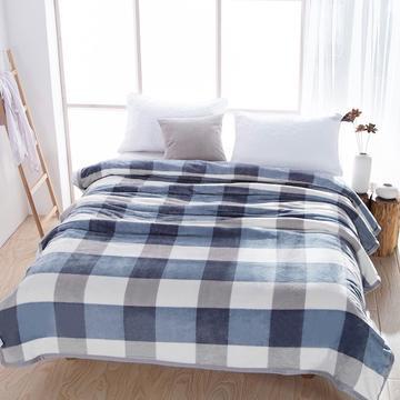 2018新款--260云貂绒毛毯 1*1.5m 优雅方格