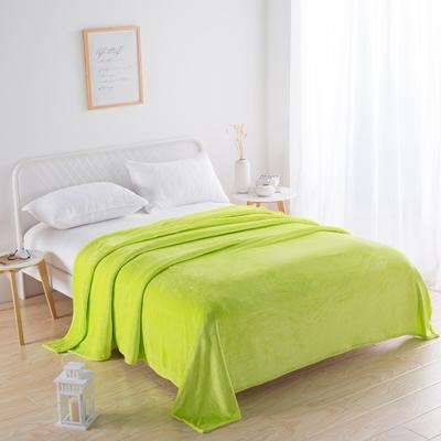 2018新款-220素色法蘭絨毛毯 70*100cm 果綠色