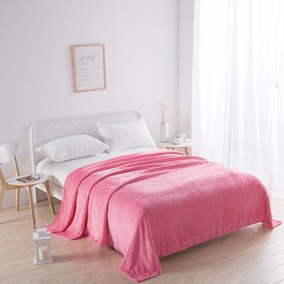 2018新款-220素色法蘭絨毛毯 70*100cm 西瓜紅