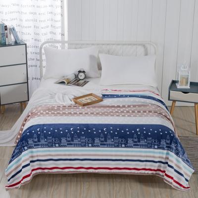2019新款-230g卷邊毛毯 1.5*2米 愛的城堡