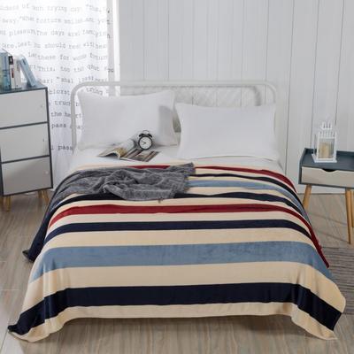 2019新款-230g卷边毛毯 1.5*2米 简单生活