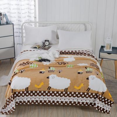 2019新款-230g卷边毛毯 1.5*2米 暖洋洋