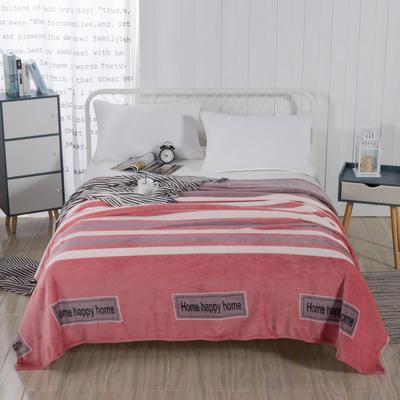 2019新款-230g卷边毛毯 1.5*2米 甜美乐章