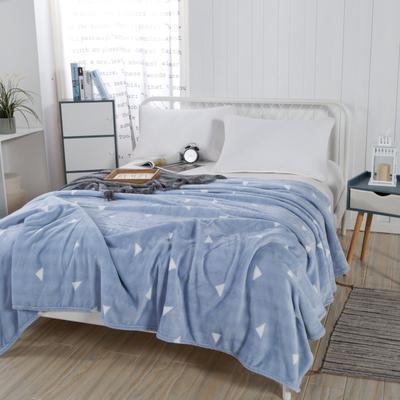 2019新款-230g卷邊毛毯 1.5*2米 自由空間