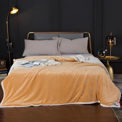 2020新款-双层贝贝绒毯 毛毯款100*130cm 奥丁金