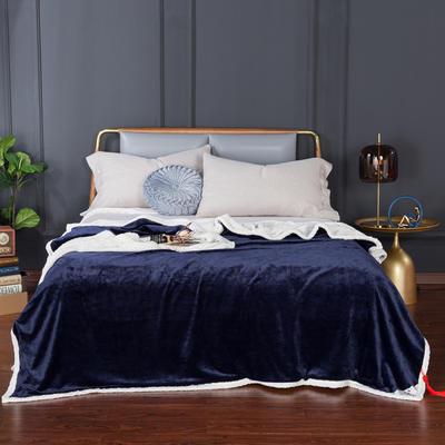 2020新款-双层贝贝绒毯 毛毯款100*130cm 宝石蓝