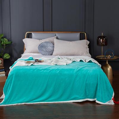 2020新款-双层贝贝绒毯 毛毯款100*130cm 翡翠绿