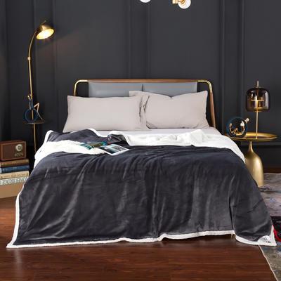 2020新款-双层贝贝绒毯 毛毯款100*130cm 远山灰
