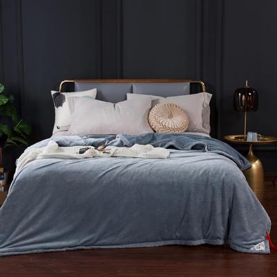 2020新款-双层贝贝绒毯 毛毯款100*130cm 珍珠灰